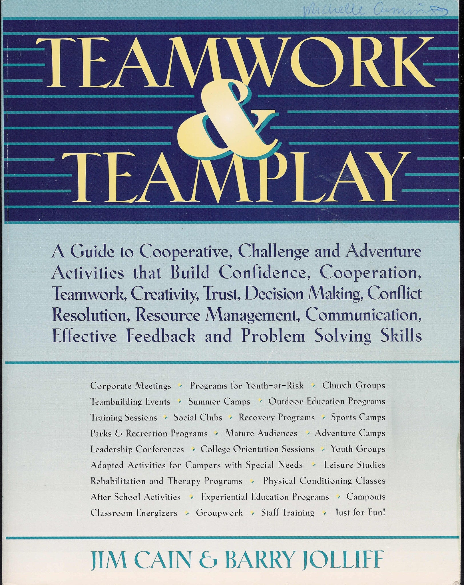 Teamwork Teamplay Book Training Wheels Gear