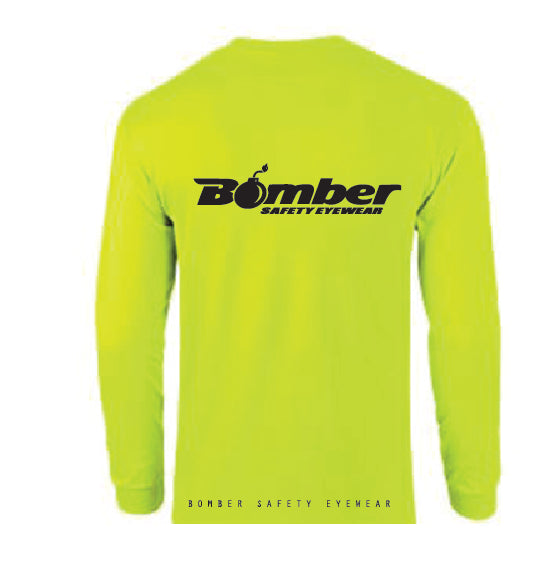 SAFETY YELLOW LONG SLEEVE T-SHIRT-SAFETY