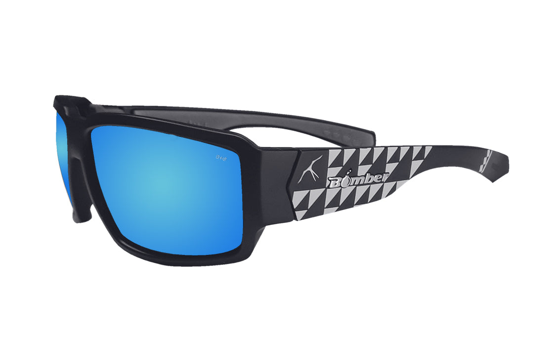 BOOGIE Safety - Polarized Ice Blue Mirror Mana Series