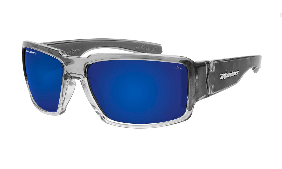 BOOGIE Safety - Polarized Blue Mirror Crystal