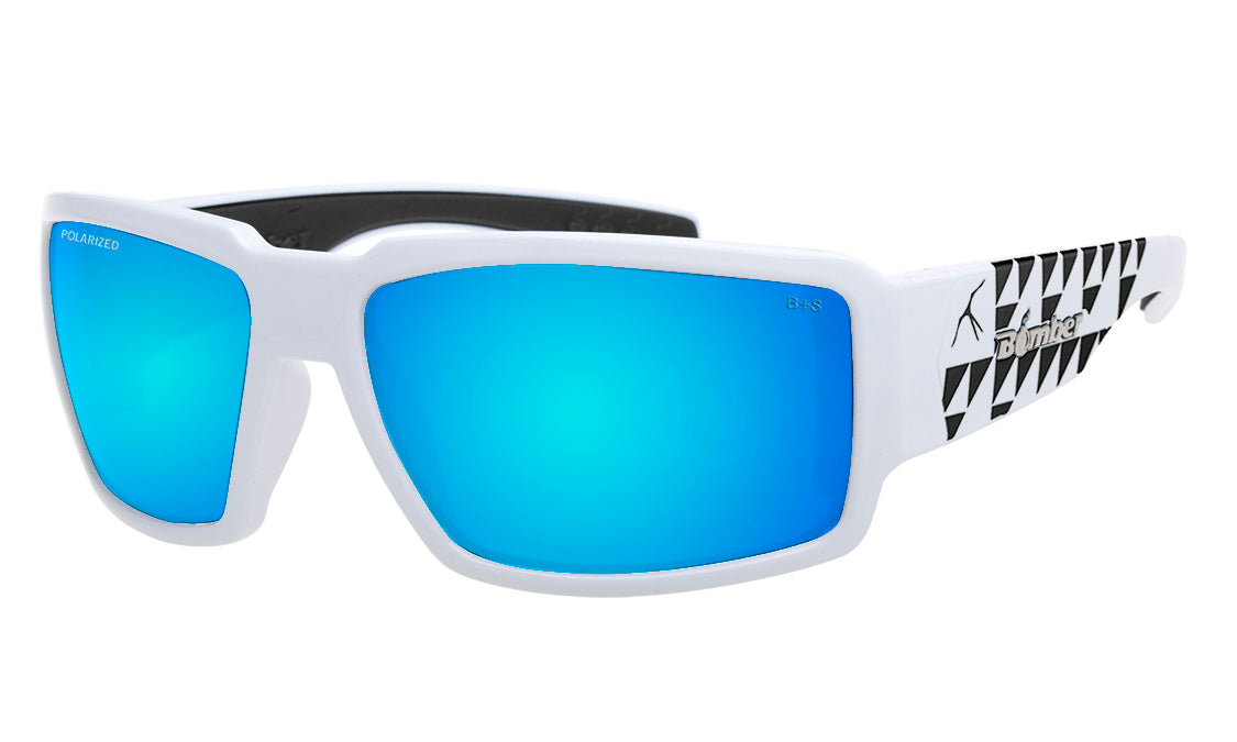 BOOGIE Safety - Polarized Ice Blue Mirror White Mana Series