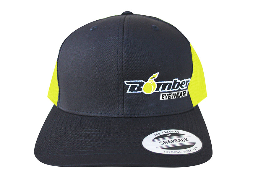 HATS - CHARCOAL AND NEON YELLOW