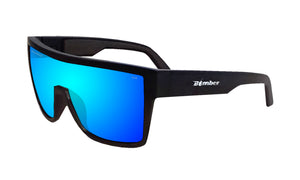 BUZZ Safety - Polarized Ice Blue Mirror Black