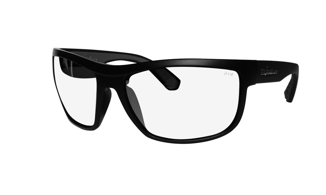 BLACK FRAME SAFETY GLASSES WITH CLEAR LENS