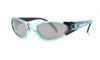 KIDS FLOATING SUNGLASSES WITH CRYSTAL BLUE FRAME AND MIRROR LENS