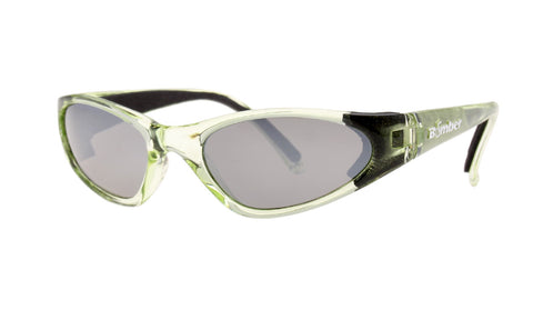 KIDS FLOATING SUNGLASSES WITH CRYSTAL GREEN FRAME AND MIRROR LENS