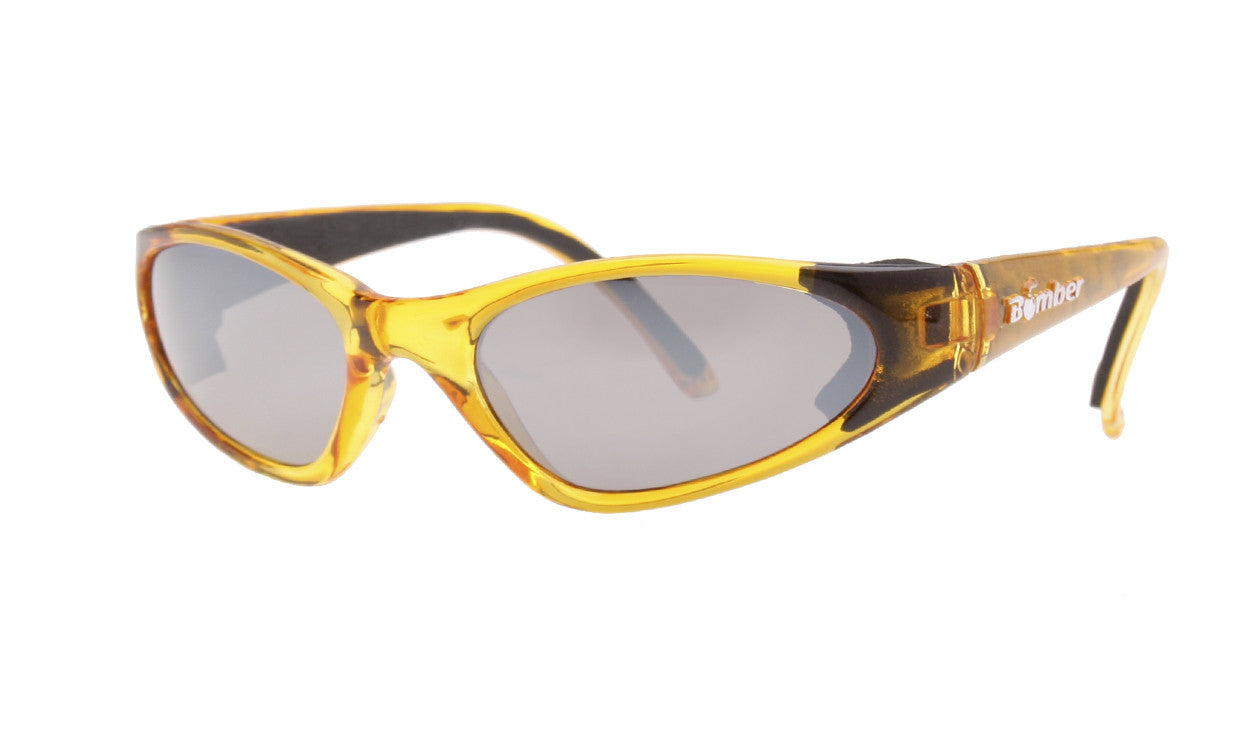 KIDS FLOATING SUNGLASSES WITH CRYSTAL YELLOW FRAME AND MIRROR LENS