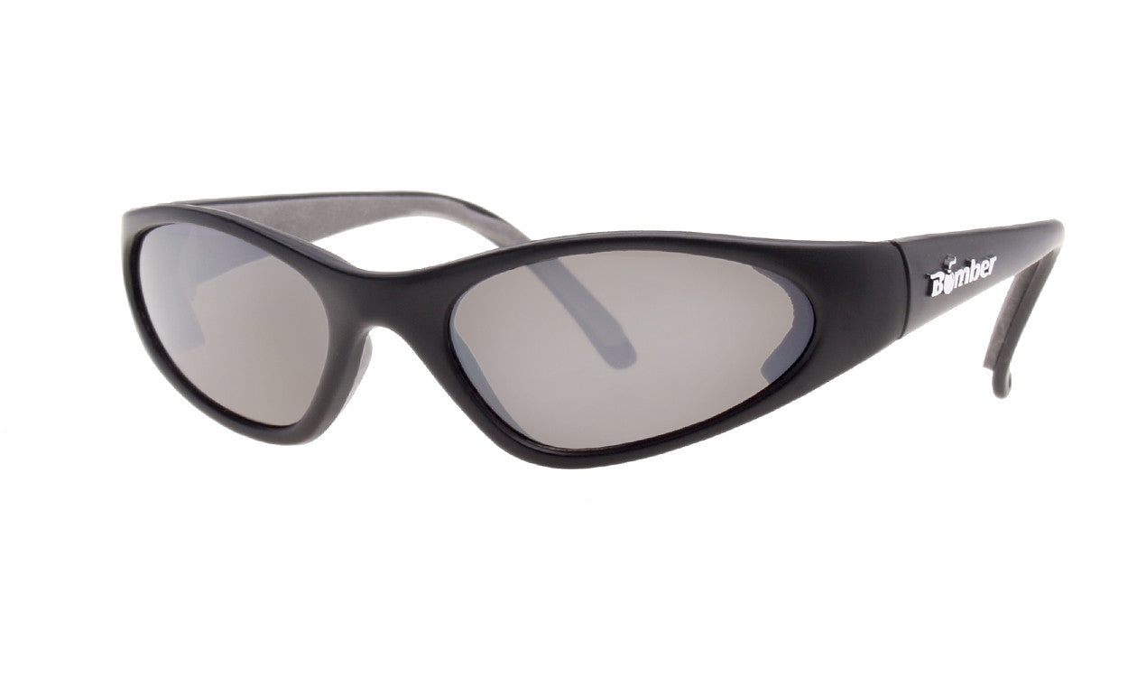 KIDS FLOATING SUNGLASSES WITH BLACK FRAME AND MIRROR LENS