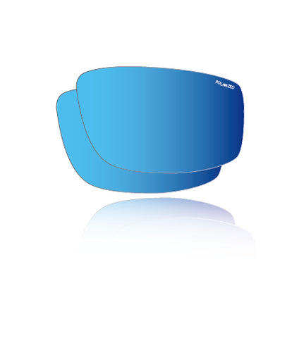Polarized Ice Blue Mirror Safety - Lens Replacements