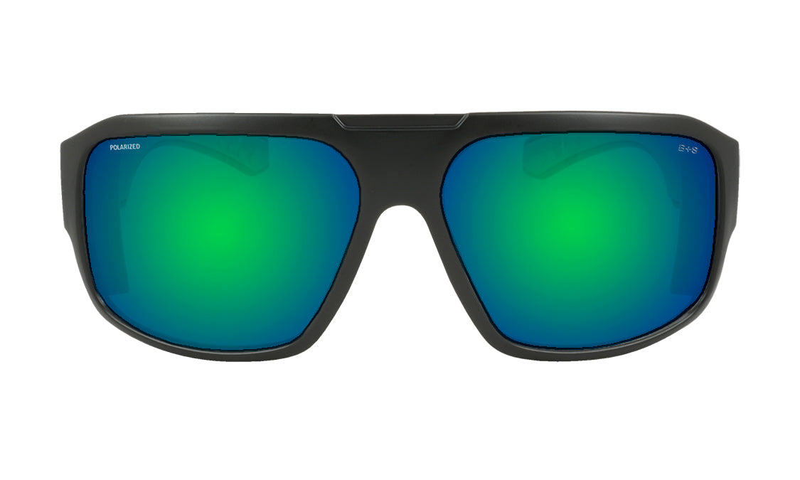 MEGA - Polarized Green Mirror Black