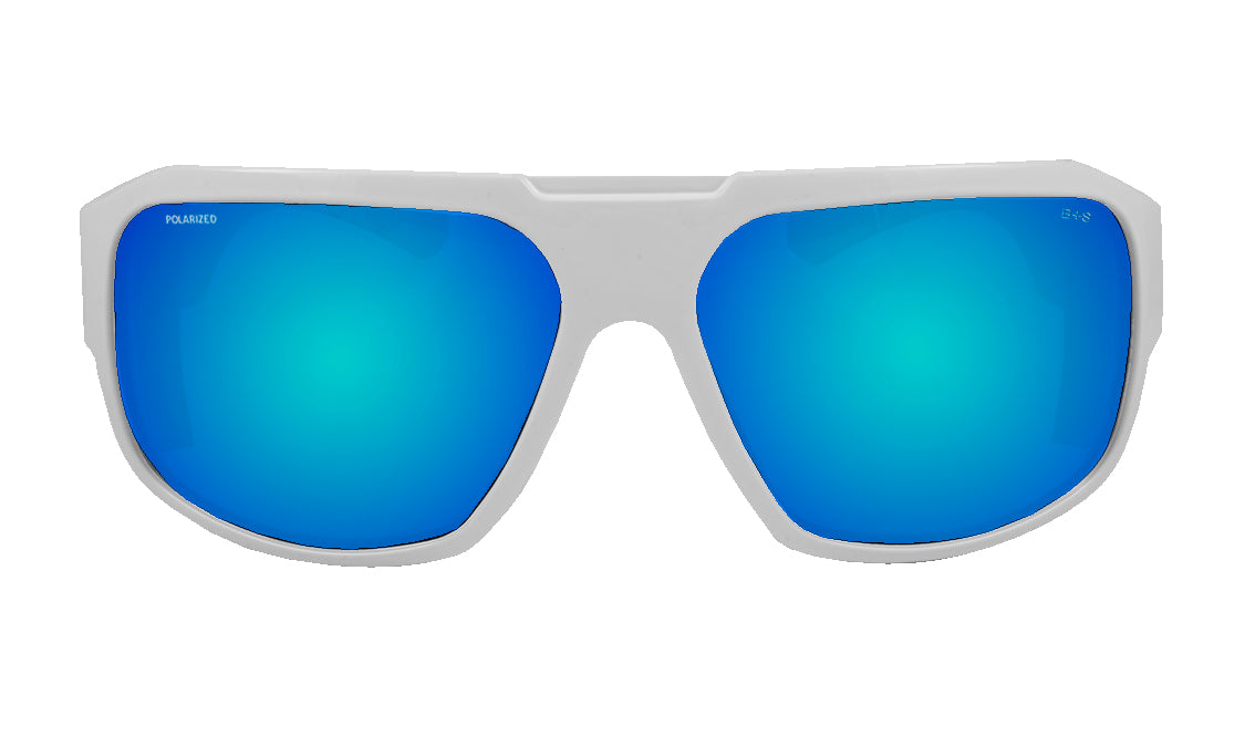 MEGA Safety - Polarized Ice Blue Mirror White Mana Series