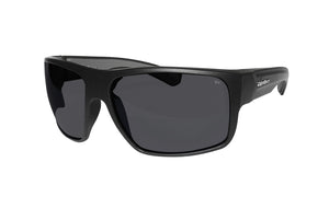 BLACK FRAME SAFETY GLASSES WITH SMOKE LENS
