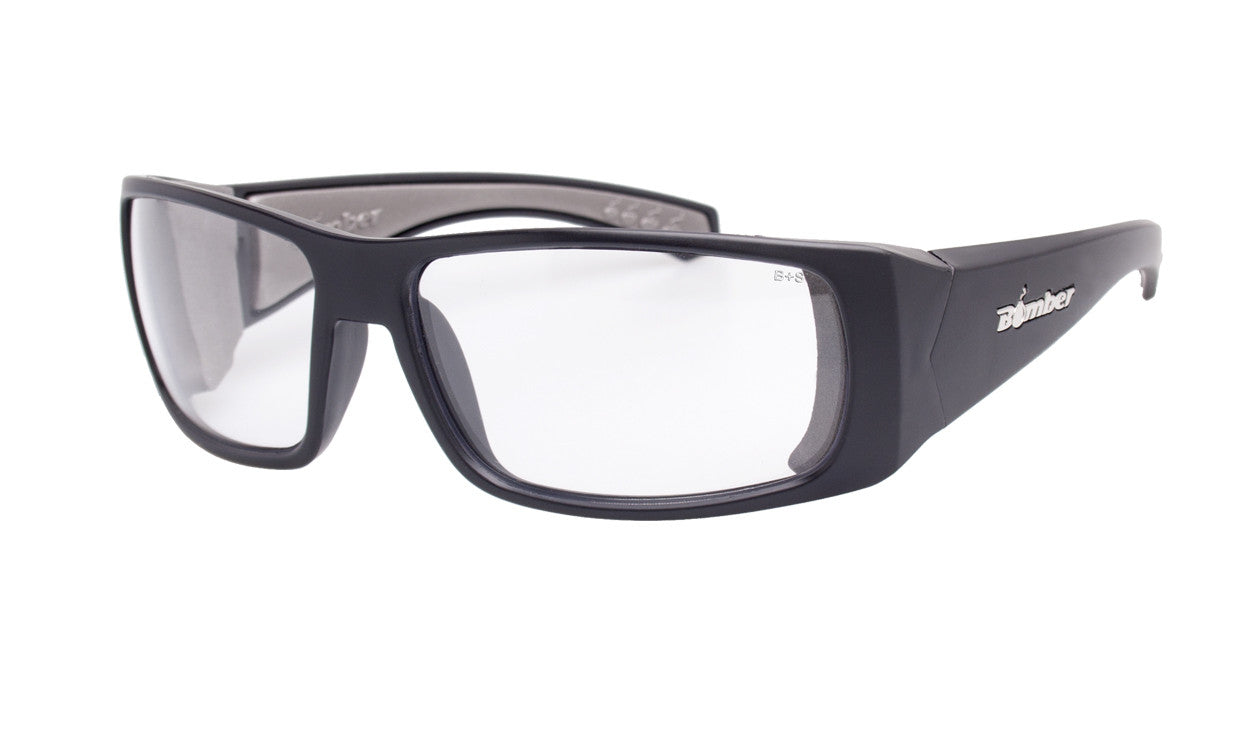 fb18e5832f78 BLACK FRAME SAFETY GLASSES WITH CLEAR LENS
