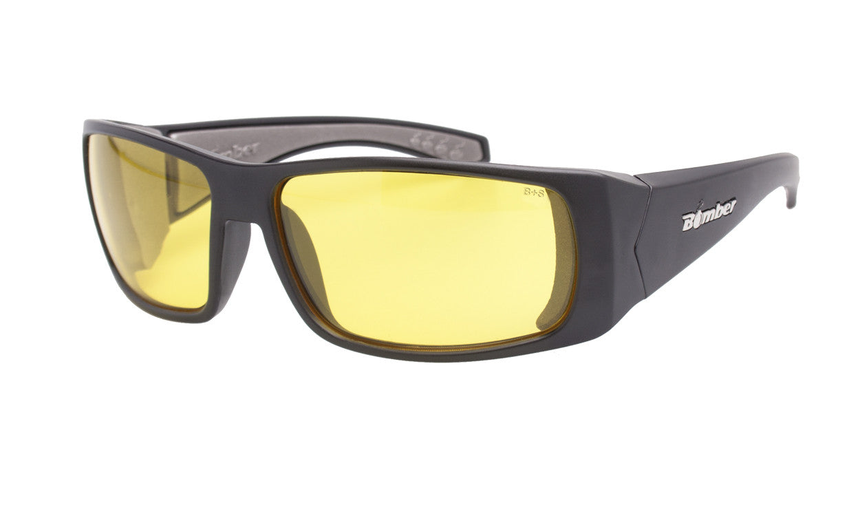 203ce59bf5 BLACK FRAME SAFETY GLASSES WITH YELLOW LENS