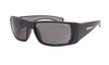 BLACK FRAME FLOATING SUNGLASSES WITH SMOKE POLARIZED LENS