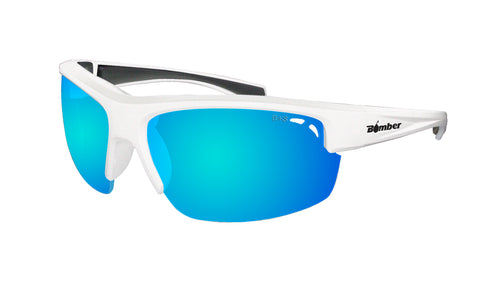 REGGIE Safety - White Polarized Ice Blue Mirror