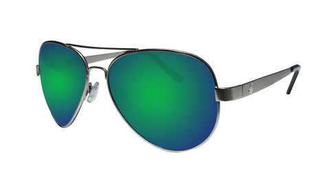 STRANGE - Polarized Green Mirror Silver