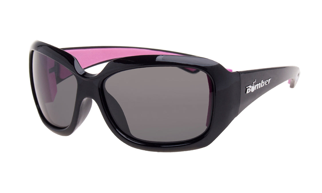 BLACK FRAME FLOATING SUNGLASSES WITH SMOKE LENS
