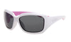 WHITE FRAME FLOATING SUNGLASSES WITH SMOKE LENS