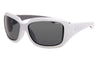 WHITE FRAME FLOARING SUNGLASSES WITH SMOKE POLARIZED LENS