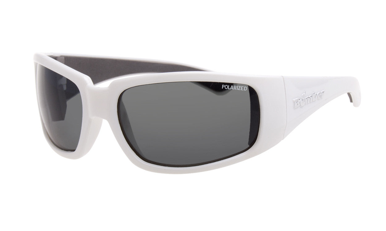 d5f9a9c620ec WHITE FRAME FLOATING SUNGLASSES WITH SMOKE POLARIZED LENS