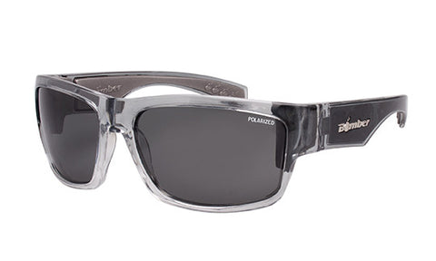 2-TONE FRAME FLOATING SUNGLASSES WITH SMOKE POLARIZED LENS