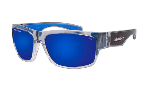 TIGER Safety - Polarized Blue Mirror Crystal Blue Foam