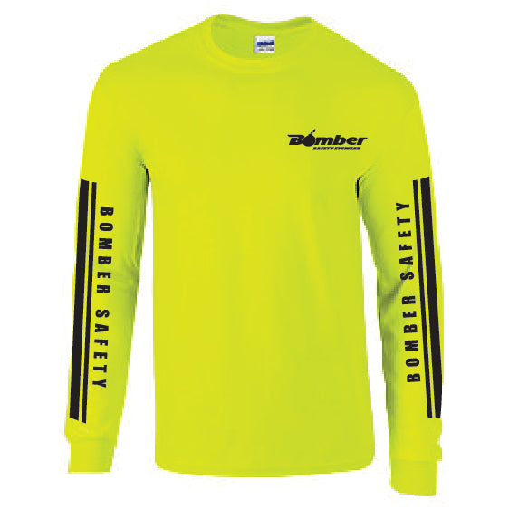 HI VISIBILITY RACING STRIPE LONG SLEEVE T-SHIRT