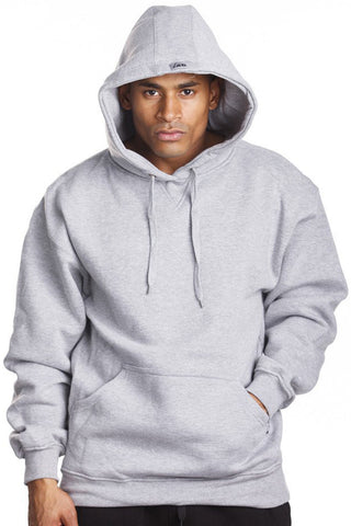 Mens Fleece Pullover Hoodie Sweater Long Sleeve Heather Grey 2XL 3XL 4XL 5XL