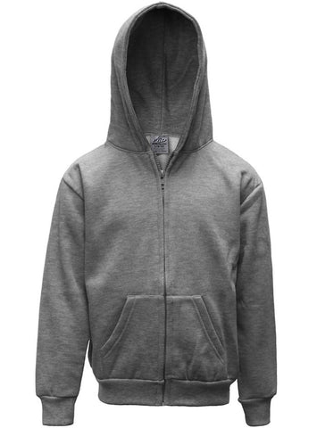 Kids Zip Down Hoodie Jacket Heather Grey