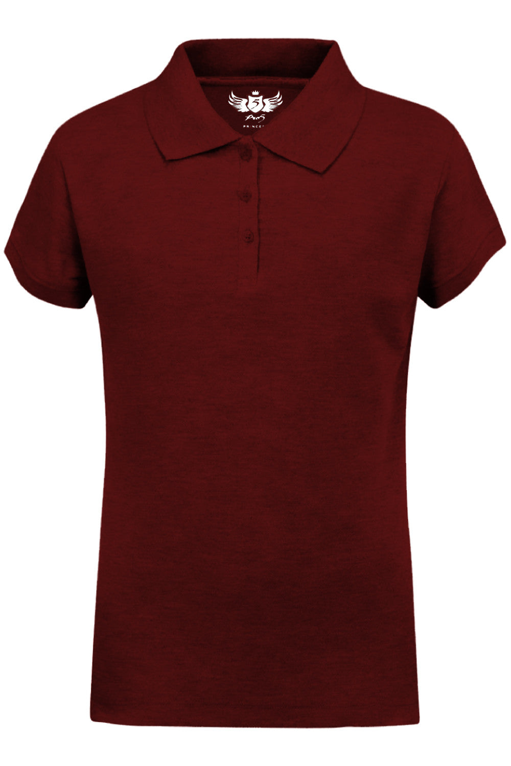Girls Polo Top Kids School Uniform Burgundy