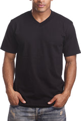 Mens Casual V-Neck T-Shirt Black