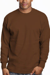 Mens Long Sleeve Super Heavy Shirt Brown