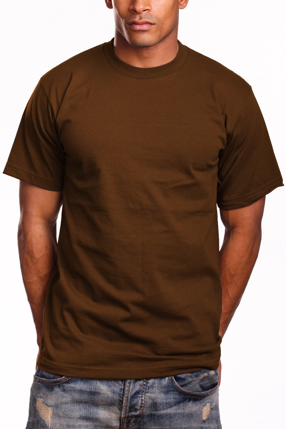 Athletic Fit Brown T-Shirts Activewear Tee Shirts