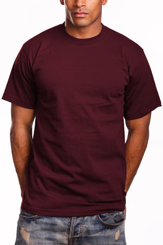 Athletic Fit Burgundy T-Shirts Activewear Tee Shirts 2XL 3XL 4XL 5XL