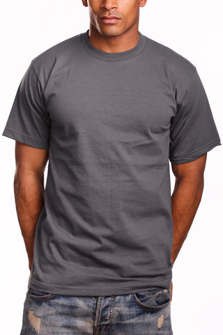 Mens Super Heavy T-Shirt Tee Shirts Charcoal
