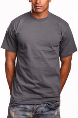 Mens Super Heavy T-Shirt Tee Shirts Tall Size Charcoal