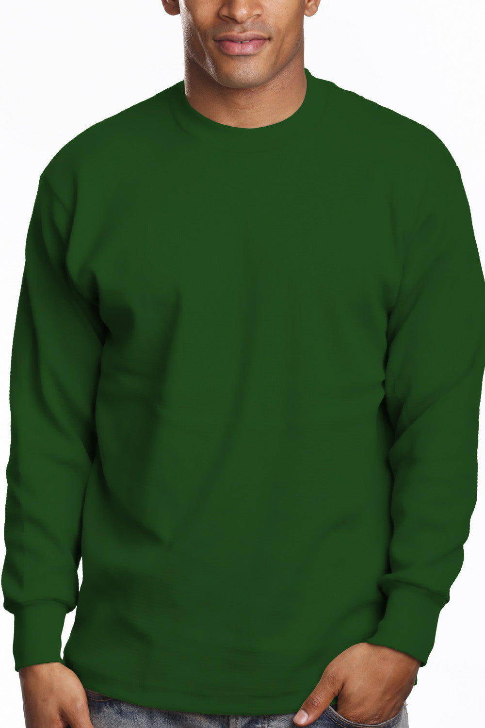 Mens Long Sleeve Super Heavy Shirt Dark Green