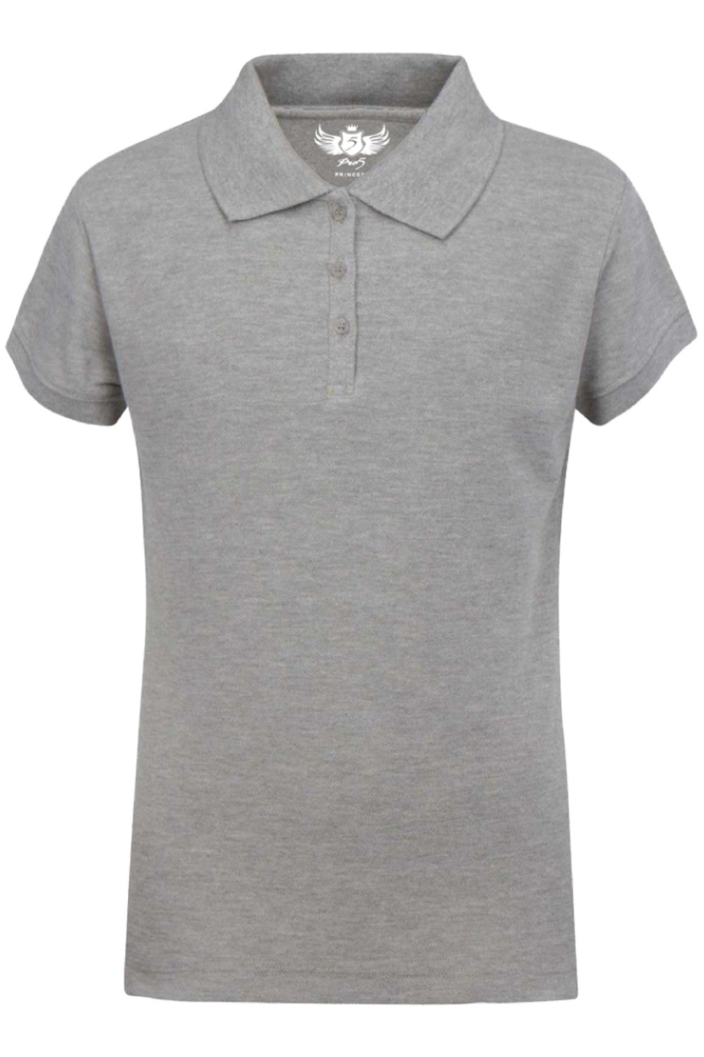 Girls Polo Top Kids School Uniform Heather Grey