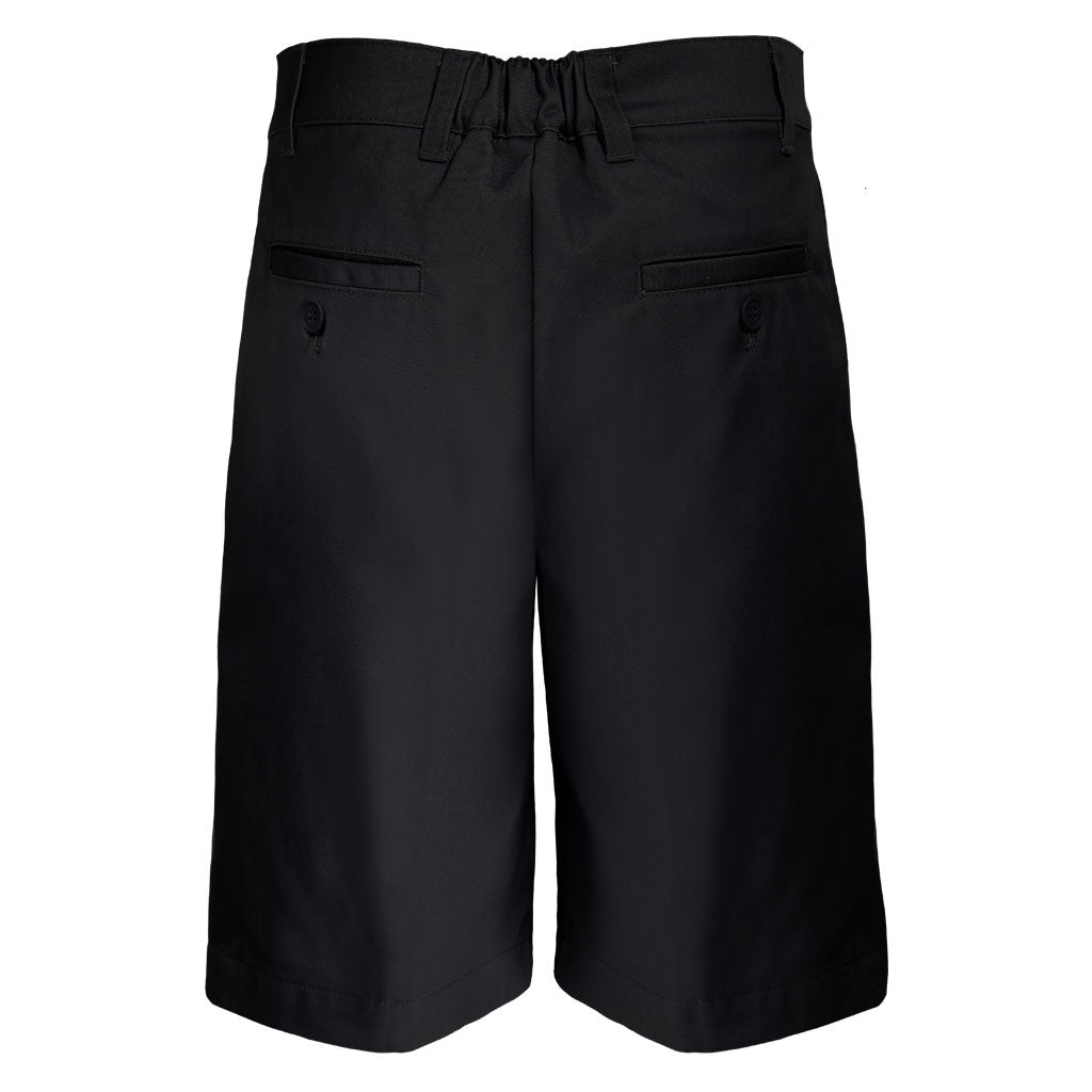 Boys Husky Fit Shorts School Uniform Black