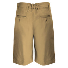 Boys Husky Fit Shorts School Uniform Khaki