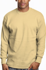 Mens Long Sleeve Super Heavy Shirt Khaki