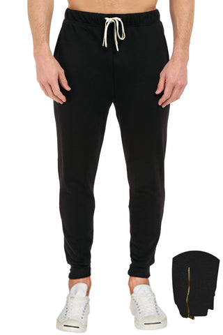 French Terry Fleece Pants With Leg Zipper 2XL-5XL - Pro 5 Apparel