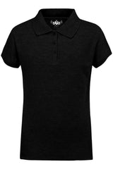 Girls Polo Top Kids School Uniform Black