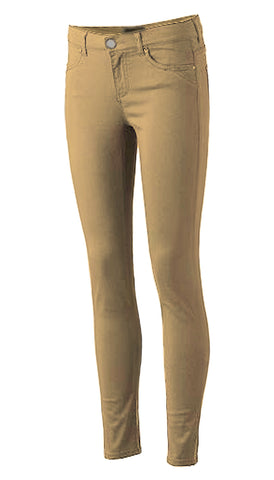 Girls Stretched Skinny Pants School Uniform Khaki