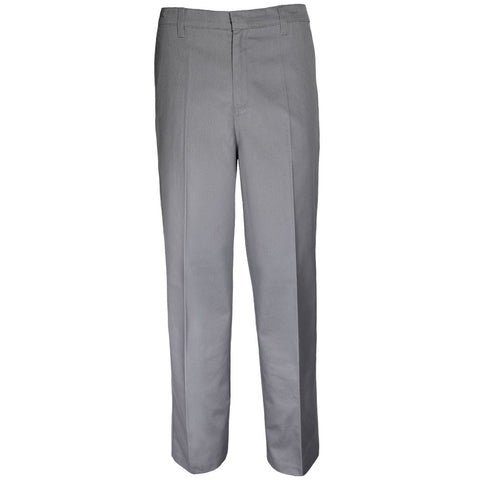 Boys Husky Fit Pants School Uniform Grey
