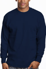 Mens Long Sleeve Super Heavy Shirt Tall Size Navy