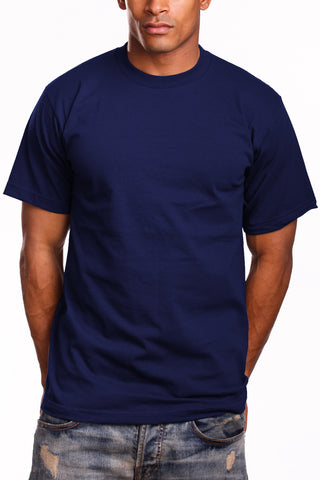 Mens Super Heavy T-Shirt Tee Shirts Tall Size Navy