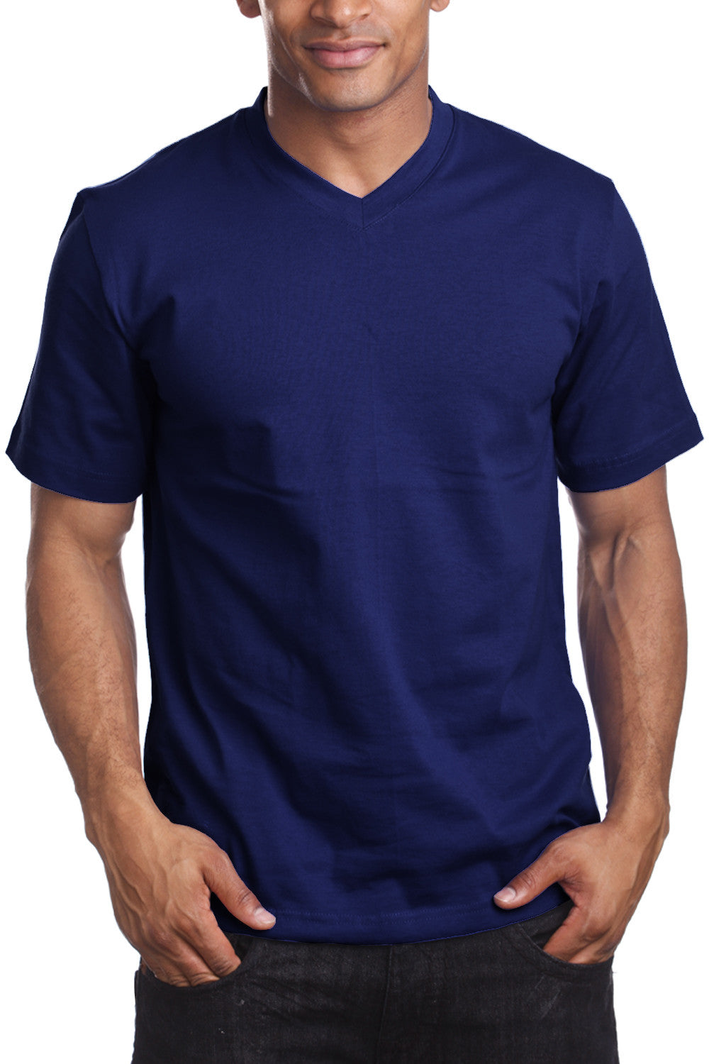 Mens Grey V Neck T Shirt