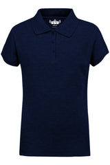 Girls Polo Top Kids School Uniform Navy